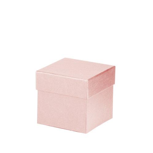 Rössler S.O.H.O. Boxline Kartonage quadratisch 105x105x105mm Powder 4er Satz