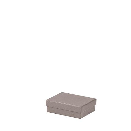 Rössler S.O.H.O. Boxline Kartonage rechteckig 96x128x40mm Taupe 3er Sa