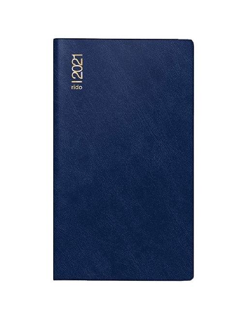 Rido D15 2022 8,7x15,3cm Modell 45432 Schaumfolien-Einband Blau