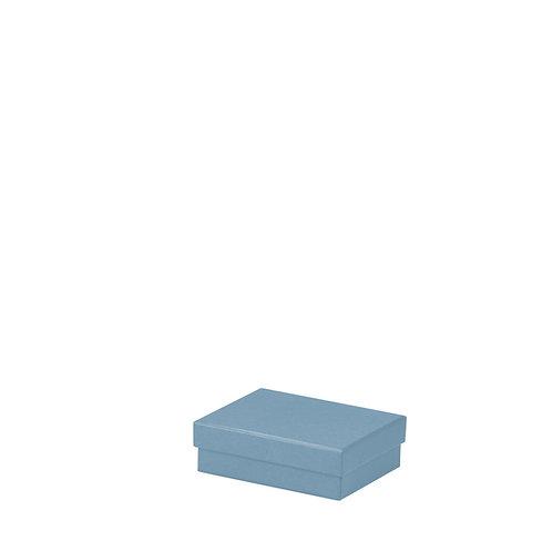 Rössler S.O.H.O. Boxline Kartonage rechteckig 96x128x40mm Denim 3er Satz