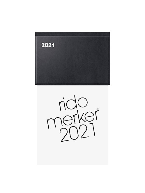 Rido Merker 2022 10,8x20,1cm Modell 35013 Kunststoff-Einband Schwarz