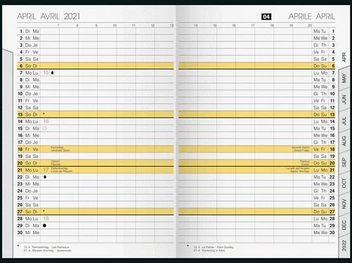 Rido uni-planer 2022 10,4x15,3cm Modell 48020 Kalender-Einlage