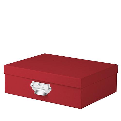 Rössler S.O.H.O. Aufbewahrungskartonage mit Griff Rot