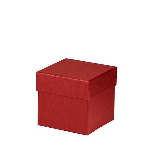 Rössler S.O.H.O. Boxline Kartonage quadratisch 105x105x105mm Rot 4er Satz