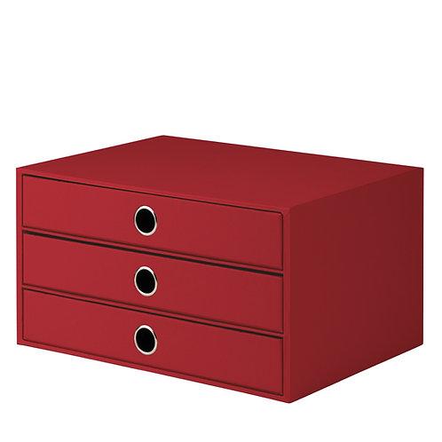 Rössler S.O.H.O. 3er Schubladenbox Rot