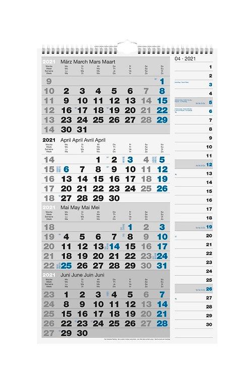 Rido 4-Monatskalender 2022 30x49cm Modell 33430