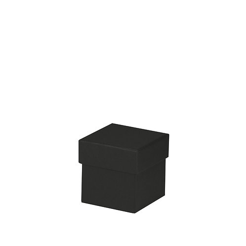 Rössler S.O.H.O. Boxline Kartonage quadratisch 65x65x65mm Schwarz 4er S