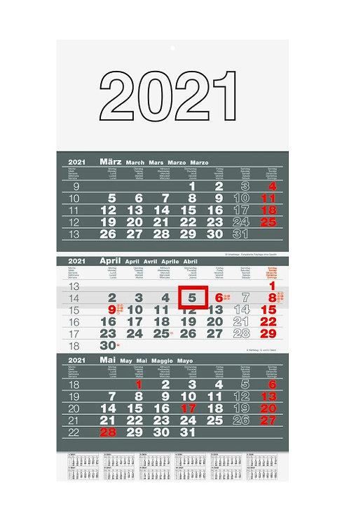 Rido 3-Monatskalender 2022 30x49cm Modell 33310