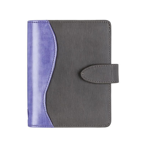 Rido Timing 3 7,6x12,7cm Modell 67042 Kunstleder-Einband Grau/Violett