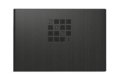 Rido Septimus 2022 15,2x10,2cm Modell 17561 - Papier-Einband Linea Schwarz