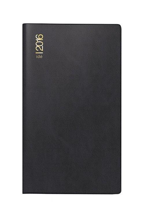 Rido TM 15 2022 8,7x15,3cm Modell 12112 - Kunststoff-Einband Schwarz