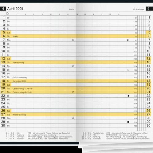 Rido D12 2022 8,7x15,3cm Modell 45372 Kalender-Einlage