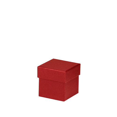 Rössler S.O.H.O. Boxline Kartonage quadratisch 65x65x65mm Rot 4er Satz