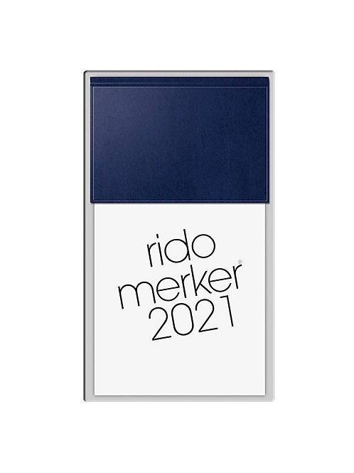 Rido Merker 2022 10,8x20,1cm Modell 35003 Miradur-Einband Blau
