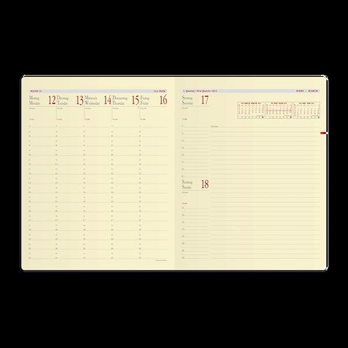 Quo Vadis Pre Prestige Note 2022 21x27cm - Kalender-Einlage