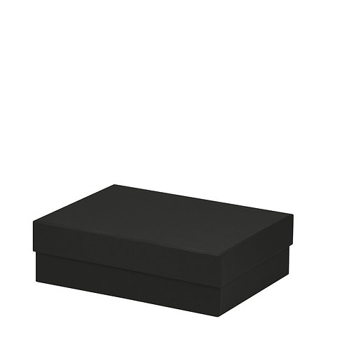 Rössler S.O.H.O. Boxline Kartonage rechteckig 196x264x80mm Schwarz 3er Satz