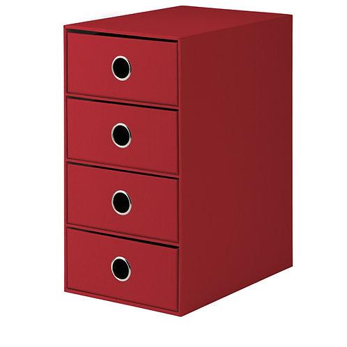Rössler S.O.H.O. 4er Schubladenbox Rot