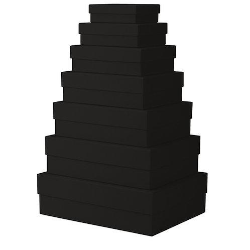 Rössler S.O.H.O. Kartonagen 7er Satz rechteckig Schwarz