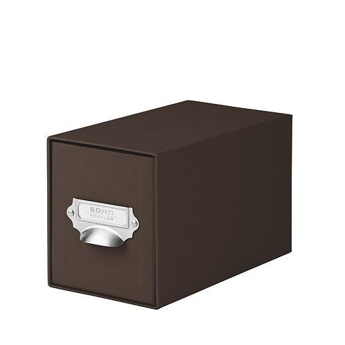 Rössler S.O.H.O. CD-Schubladenbox mit Griff Espresso