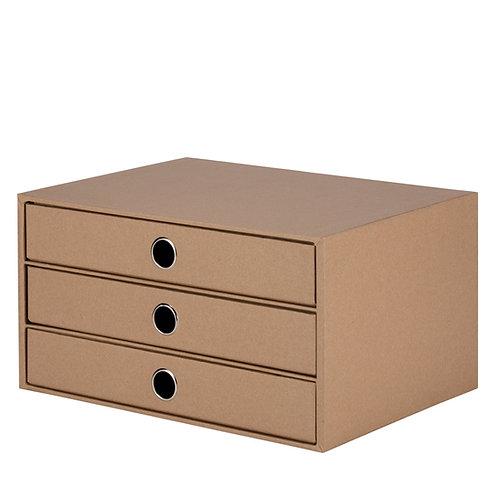 Rössler S.O.H.O. 3er Schubladenbox Kraft