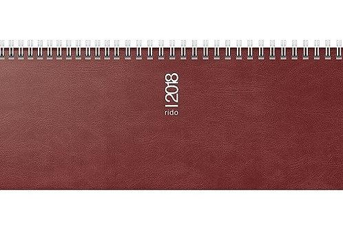 Rido septant 2022 30,5x10,5cm Modell 36132 Schaumfolien-Einband Catana Bordeaux