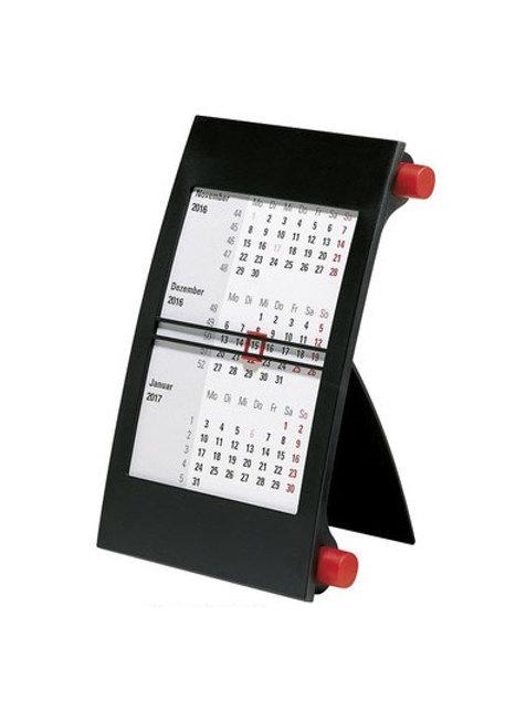 Rido 3-Monatskalender 2022 11x18,3cm Modell 38000 Drehknopf Rot
