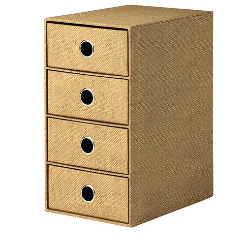 Rössler S.O.H.O. 4er Schubladenbox Hazelnut Special Edition