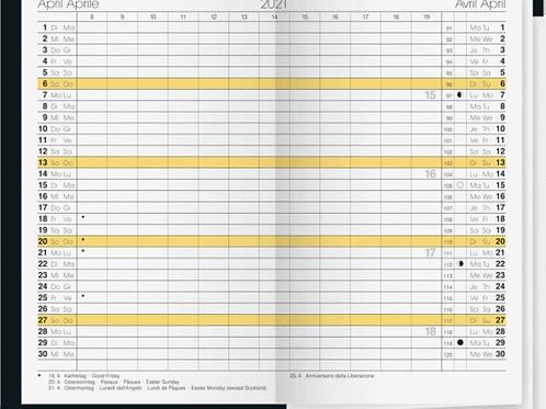 Rido Gilet-Planer 2022 7x11,8cm Modell 45030 - Kalender-Einlage