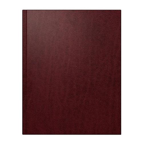 Rido Managerkalender TM 2022 20,5x26cm Modell 24008 - Leder-Einband Weinrot