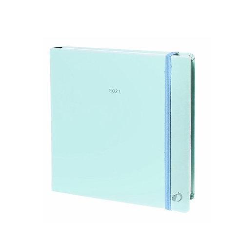 Quo Vadis Executif 2022 16x16cm - Pastell Blau