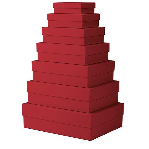 Rössler S.O.H.O. Kartonagen 7er Satz rechteckig Rot