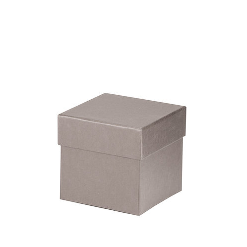 Rössler S.O.H.O. Boxline Kartonage quadratisch 105x105x105mm Taupe 4er Satz