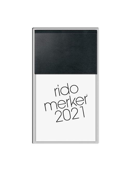Rido Merker 2022 10,8x20,1cm Modell 35013 Kunststoff-Einband Skivertex Schwarz
