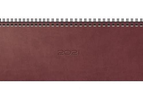 Rido septant 2022 30,5x10,5cm Modell 36125 Kunstleder-Einband Prestige Rotbraun