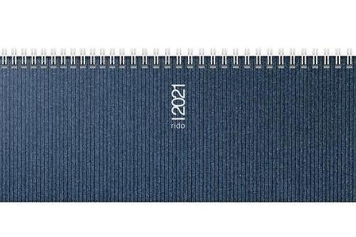Rido septant 2022 30,5x10,5cm Modell 36133 Kunststoff-Einband Visicron Blau