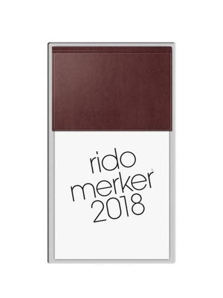 Rido Merker 2022 10,8x20,1cm Modell 35003 Miradur-Einband Dunkelrot