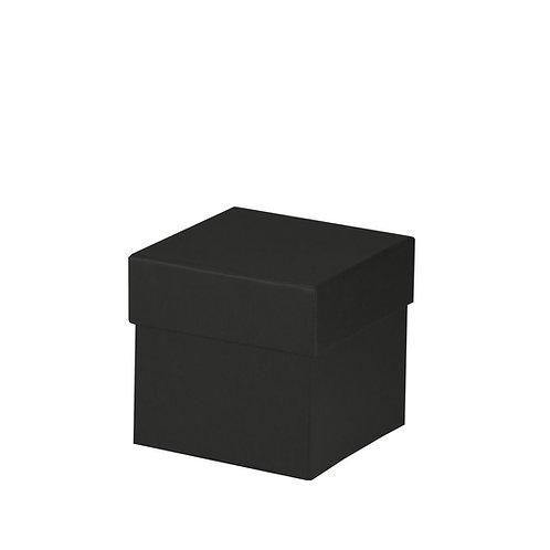Rössler S.O.H.O. Boxline Kartonage quadratisch 105x105x105mm Schwarz 4er Satz