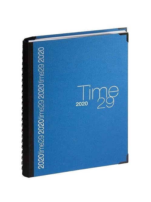 Quo Vadis Time 29 A4 2022 21x29,7cm - Stoff Blau