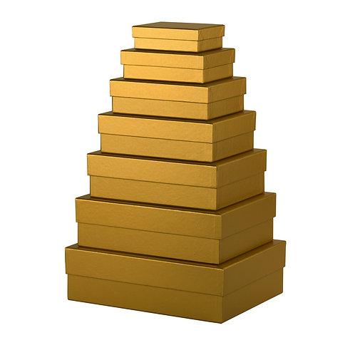 Rössler S.O.H.O. Kartonagen 7er Satz rechteckig Gold