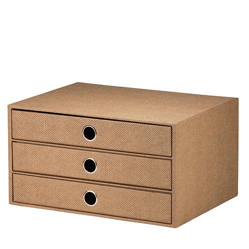 Rössler S.O.H.O. 3er Schubladenbox Hazelnut Special Edition