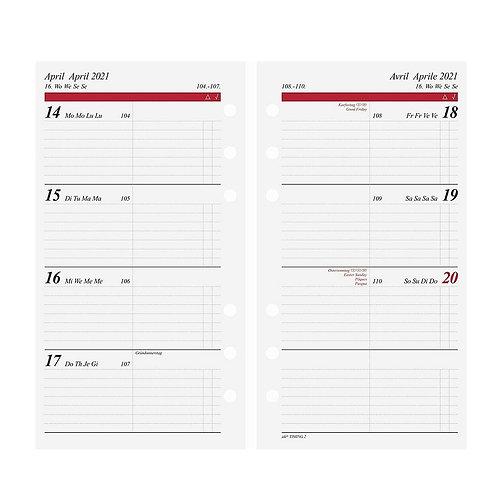 Rido Timing 3 2022 7,6x12,7cm Modell 67910 Wochenkalender Kalender-Einlage