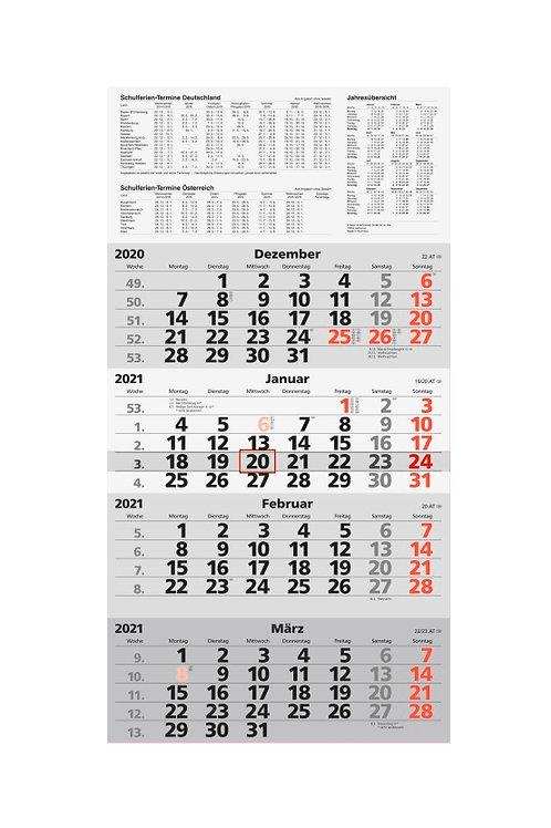Rido 4-Monatskalender 2022 33x63,5cm Modell 33420