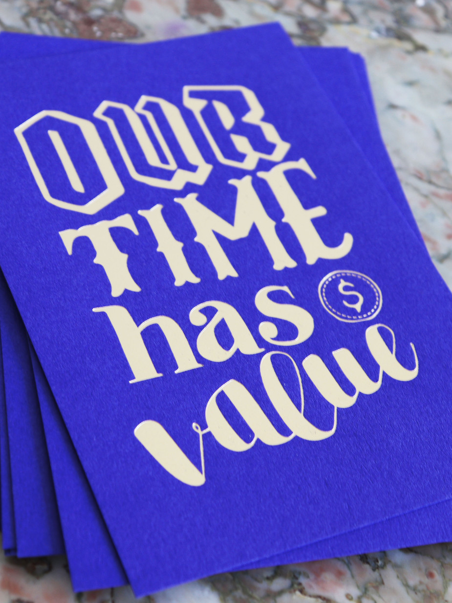 Typographie, Our time has value