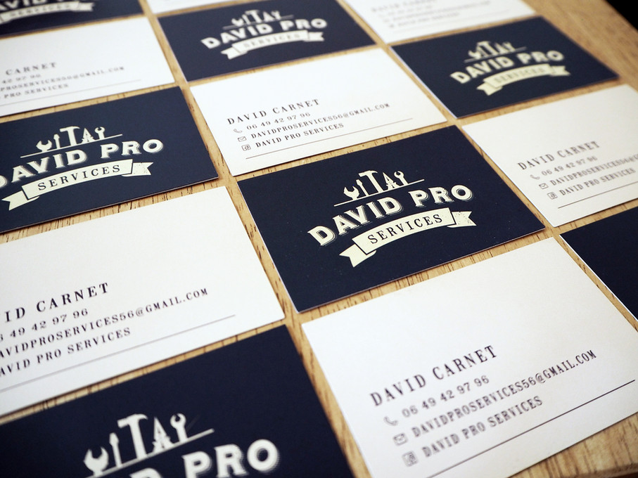 Cartes de visite David Pro Services