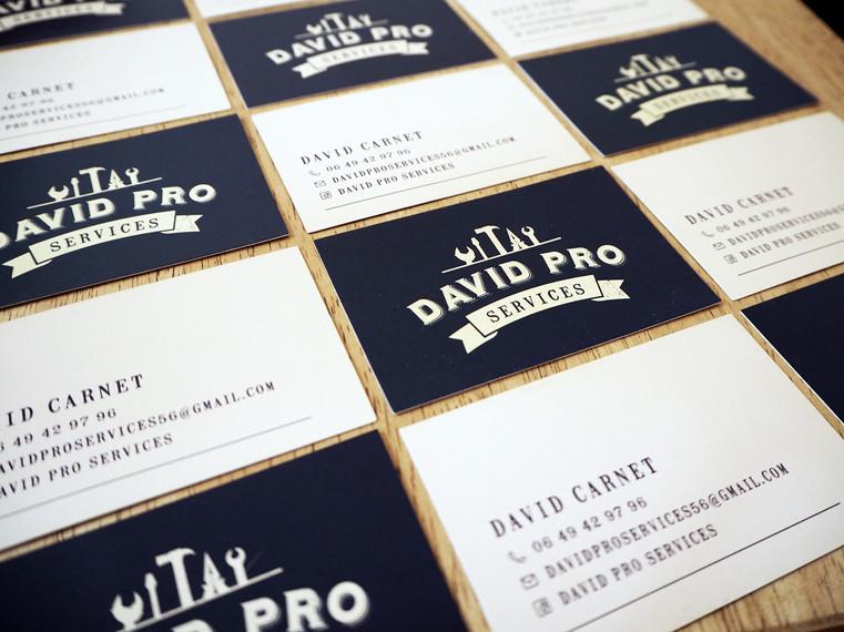 Cartes de visite David Pro Services