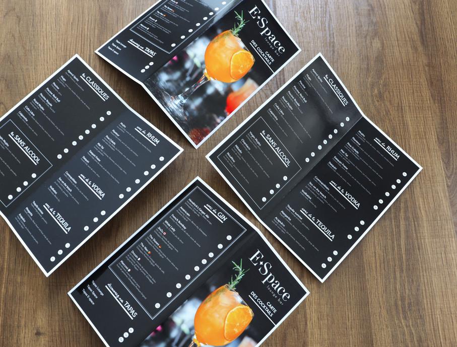 Carte cocktail