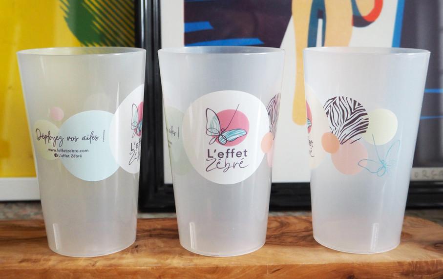 Eco cup pour L'Effet Zébré