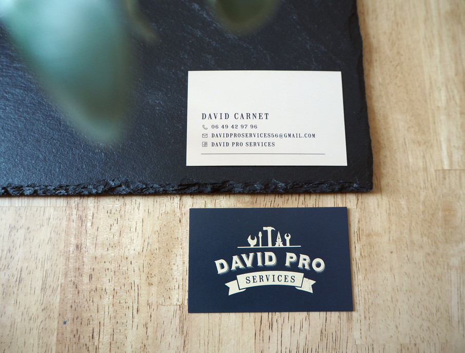 Carte de visite David Pro Services