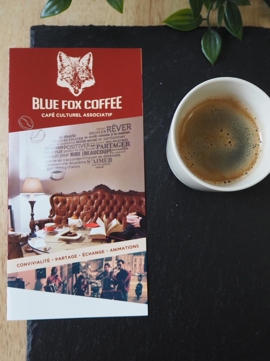 Dépliant, Blue Fox Coffee