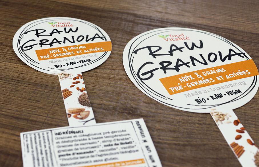 Différents formats d'étiquettes Food Vitalité